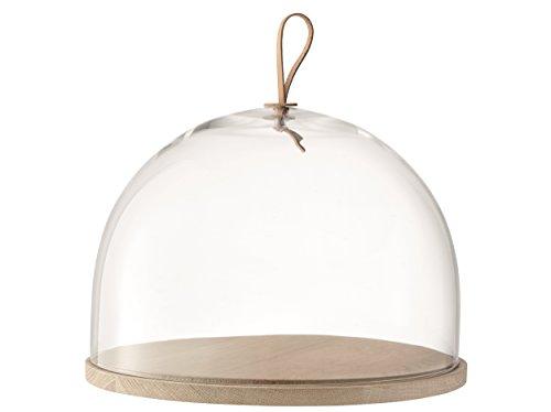 LSA International Ivalo - Cupola con base in frassino. trasparente. 32 cm