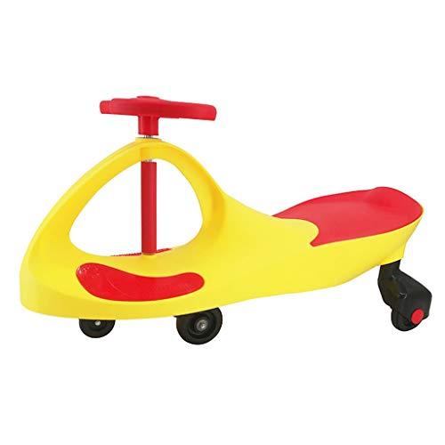 Meisjes & Jongens De Vlinder Handvat Draait de auto en schommelingen om de baby Yo auto schuiven, Helpt de baby te lopen Unisex