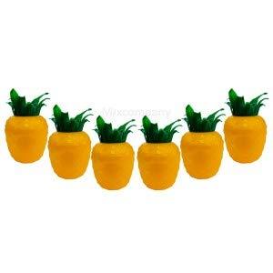 Malibu Cocktail Becher Set aus Kunststoff ananasform gelb ca. 0,3l 300ml - 6 Stück Mehrweg Trinkbecher Cocktailbecher Ananas Glas Gläser