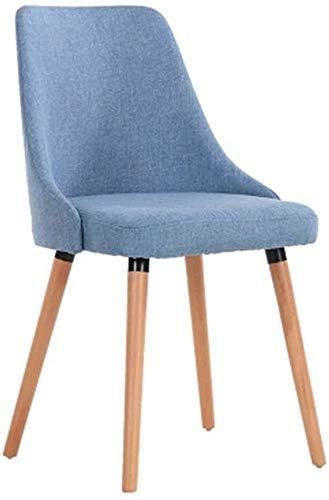 DFKDGL Stuhl Massivholz Esszimmer, einfache lässige Hotel Schreibtisch, Home Cafe Rückenlehne Hocker (Farbe: Grau, Größe: 46x44x85CM) für Home Office Studie
