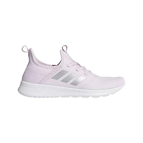 adidas Kid's Cloudfoam Pure Running Shoe, Aero Pink/Silver Metallic, 7 Medium US