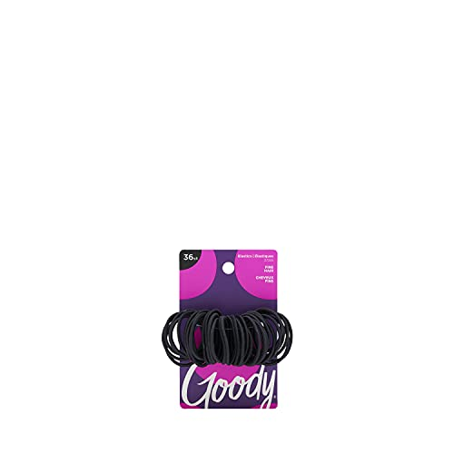 Goody Ouchless Hair Elastics, Black, 36 Count (Pack of 3)