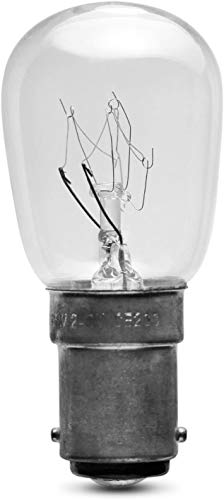 Eveready 5X 15W Pygmy Bulb Appliance Lamp SBC(B15), B15d, 15 W, Clear White