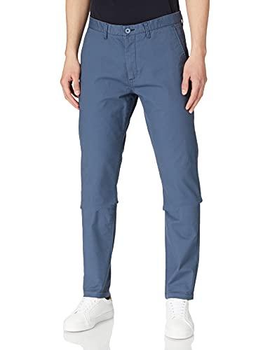 Springfield Chino Slim Micro Print Pantalones, Azul Medio, 40