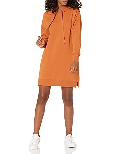 Marque Amazon - Iona Mini-robe sweat-shirt à capuche et manches longues par The Drop