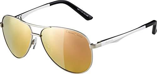 ALPINA A 107 Sportbrille, Unisex– Erwachsene, silver matt, one size