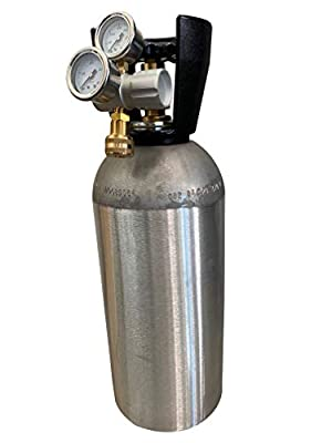 Preece Precision 10 lb co2 Carbon Dioxide Aluminum Cylinder and 250 PSI Adjustable High Flow Regulator for Inflating Off Road Tires