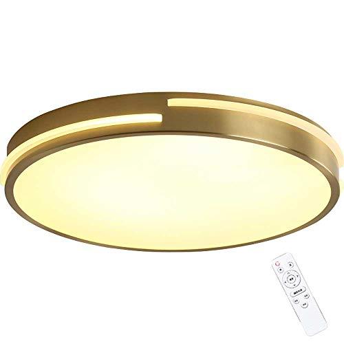 Sofar Ultradünne Arbeitszimmer Wohnzimmer Deckenleuchte einfache moderne Schlafzimmer Esszimmer LED Vollkupfer Lampen (Kupferfarbrahmen, φ50cm)