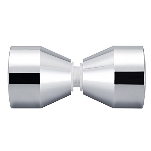 Doppel Knopf Türgriff Duschtürknopf Duschtürgriff Dusche-Griff Beschläge Türknauf Griff Knopf Schrankgriff Dusche Tür
