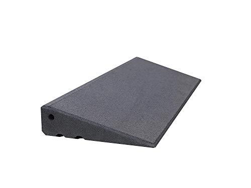 Türschwellenrampe Excellent 750/75 mm hoch aus Gummigranulat hochverdichtet (grau)