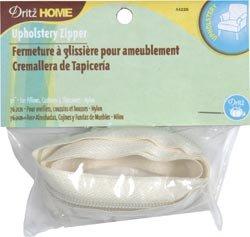 Dritz Bulk Buy Sewing Nylon Upholstery Zipper 30 inch Cream (3-Pack)