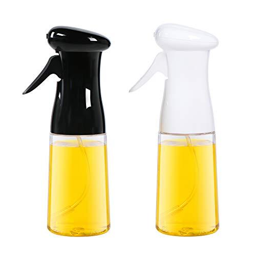 Aminno Oil Sprayer for Cooking 2 Pack, Food Grade Oil Sprayer Dispenser Mister, BPA-FREE Oil Spray Bottle, Multipurpose Sprayer for Air Fryer, Frying, Salad, Baking, BBQ, 7oz/200ml