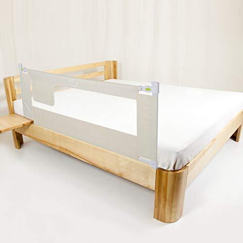Bettgitter, 150/180/200cm Klappbares Bettgitter Verstellbare Bettschutzgitter Kinderbettgitter Babybettgitter für Rausfallschutz (200CM/3 Dateien)