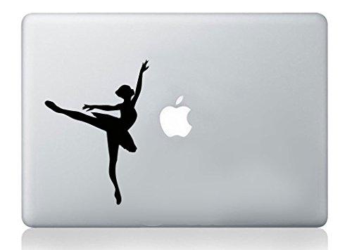 Pegatina para ordenador portátil Dancing Ballerina Silhouette MacBook Laptop Decal Vinilo Skin Sticker Mural Art