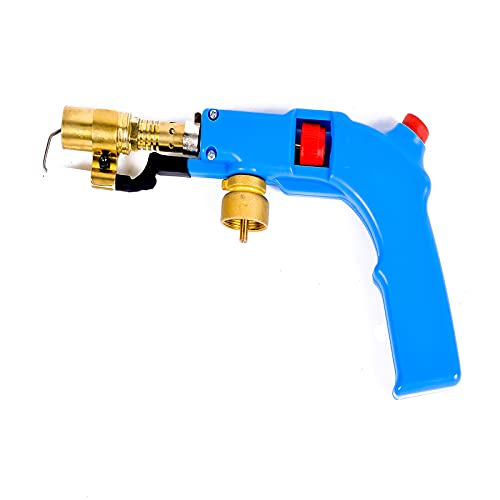 YOUDO Electric Start Propane Torch with Push-button electric starter,Flame Control,for Soldering Brazing Light Welding (Fuel Not Included)