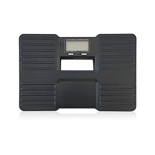 PRWJH Pèse-personne, échelle du corps humain, balance électronique polyvalente, balance électronique en plastique anti-chute pour la santé du corps, 150 kg, noir
