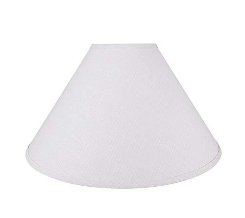Aspen Creative 32205 - Pantalla para lámpara de araña, diseño de imperio, color gris claro, 19' de ancho (6' x 19' x 12')