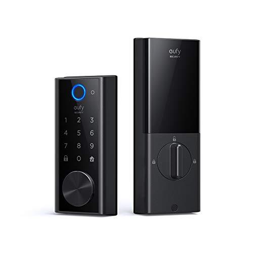 eufy Security Smart Lock Touch & Wi-Fi, Fingerprint Scanner, Keyless Entry Door Lock, Smart Wi-Fi Lock, Bluetooth Electronic Deadbolt, Touchscreen Keypad, BHMA Certified, IP65 Weatherproofing