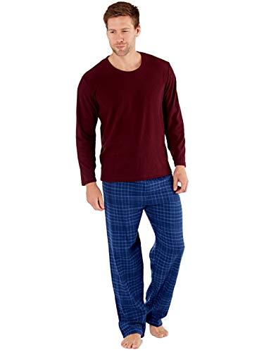 Pijama de Forro Polar para Hombre con Cuello en V Harvey James