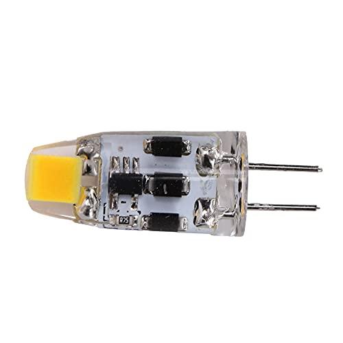 Bombilla G4 2W 200LM Bombilla de atenuación de 360 ° Sin Parpadeo Bombilla LED de Dos Clavijas de Silicona Luz de Ahorro de energía Bombilla enchufable pequeña para (Luz Natural 4000‑4500K)