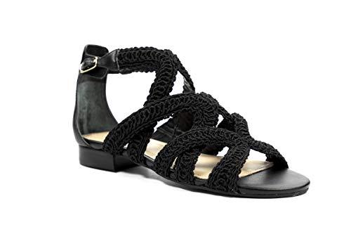 Guess - Sandalias de vestir de Piel Lisa para mujer, color Negro,...