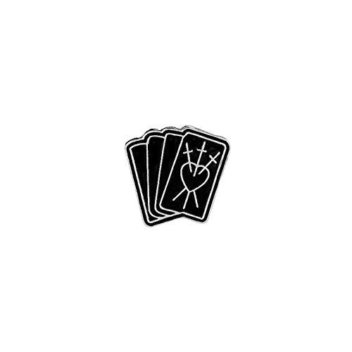 TZZD CD de la Manera del cráneo Negro Broche de Esqueleto de Palm Chica Libro Broche Poker Pernos Dril de algodón de Dibujos Animados de Cuello Insignia del Sombrero broches de los Pernos