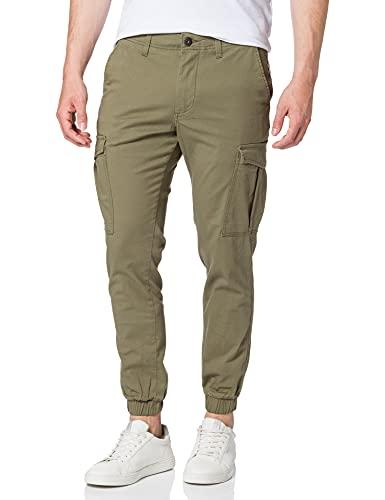 JACK & JONES Herren JJIMARCO JJJOE Cuffed AKM Dusty Olive Jeans, 30W / 32L