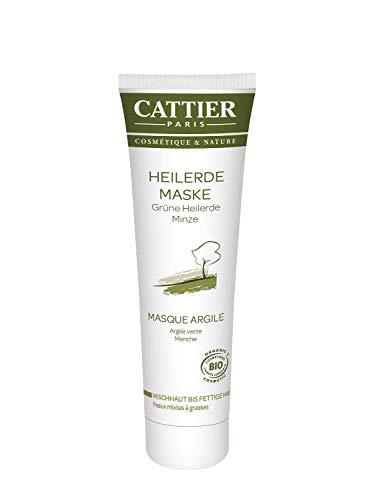 Cattier Heilerde Maske für fettige Haut, mit grüner Heilerde, zertifizierte Naturkosmetik, 100 ml
