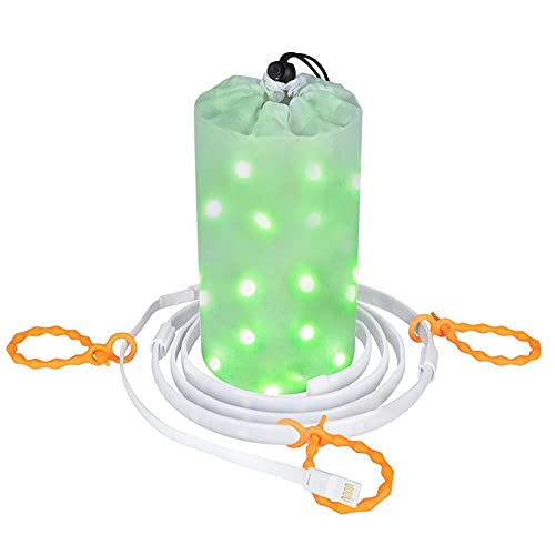 Dust2oasis Camping Lights String, Portable Outdoor Camping Tent Light Lantern USB Powered LED Rope Light Strip Lights for Camping, Hiking, Garden, Party, Bedroom Decoration (Multi Color)