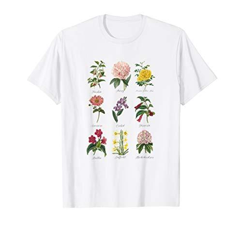 Vintage Botanical Floral Flower T-Shirt T-Shirt