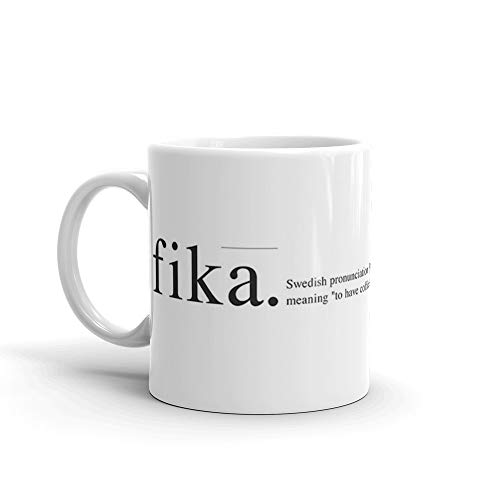 Wiki Fika 11 Oz White Ceramic