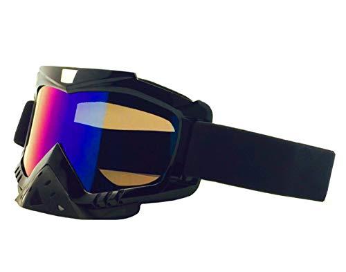 Anti-Fogging-Motorradbrille für Unisex, leichte Vollformat-Motorradbrille mit Gummiband, UV-Schutz Winddichte Ski-Motocross-Brille