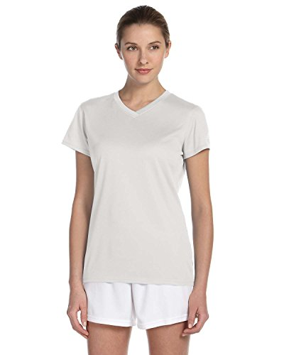 Ladies 'Ndurance - Athletisches T-Shirt mit V-Ausschnitt, XL, Wei?