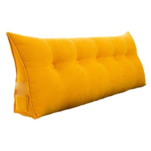 SYUS Kopfkissen Rückenkissen Nackenrolle, Bett-Rückenstütze Keilform für Bett Sofa Kopfteil Wohnzimmer Schlafzimmer Waschbar Bezug
