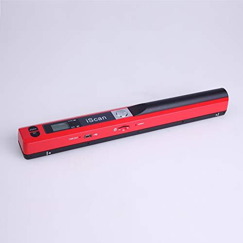 CIS draagbare scanner, 900DPI resolutie, USB-interface A4-scannen, extern SD-geheugen, hoge resolutie beeldovering, meerdere kleuren rood