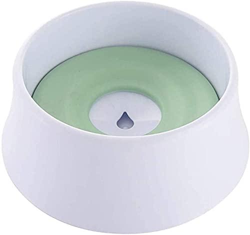 Cuenco de Agua de Perro Sin derrame de Agua de Mascotas Cuenco de Agua Lento Alimentador de Agua sin Deslizamiento Dispensador de Agua para Mascotas Tazón de Agua Gran Capacidad (Color : Green)