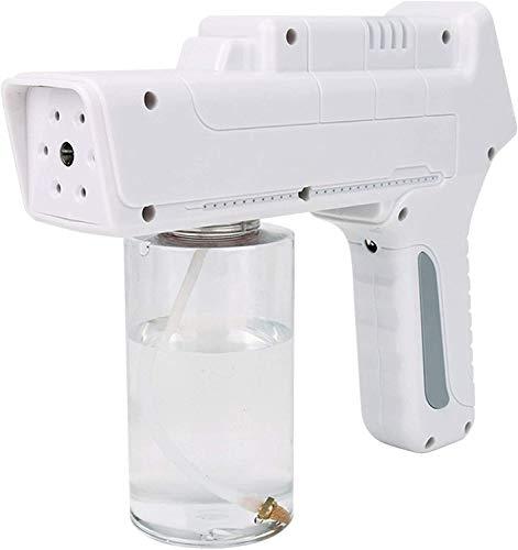 Pistola de spray de vapor nano, máquina de pulverizador, desinfección de la máquina de nebulización de rociado de mano de 350 ml, máquina de desinfección multifuncional recargable inalámbrica, para la
