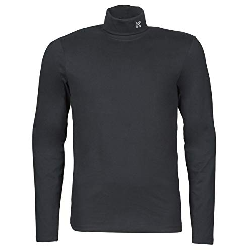 OxbOw M2RONPE Tee Shirt Manches Longues col roulé Homme, Noir, FR (Taille Fabricant : XL)