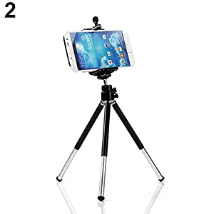 UOFit Mini Phone Tripod Portable Adjustable Camera Stand Holder Tripod