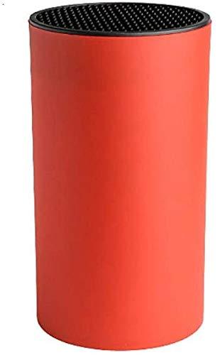 YGMX Universalmesserhalter-Messerhalter Ohne Messer Kompakt Und Platzsparend Messerhalter-Einzigartiges Schlitzdesign Schützt Die Klinge,Rot