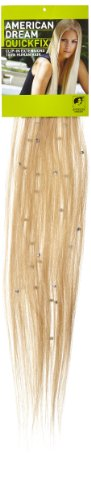 American Dream - A19/QFC12/18/22 - 100 % Cheveux Naturels - Pièce Unique Extensions Cristallisées à Clipper - Couleur 22 - Blond Plage - 46 cm