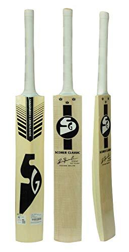SG Scorer Classic Kashmir Willow Cricket Bat ( Size: Short Handle,Leather Ball ), wood, multicolor