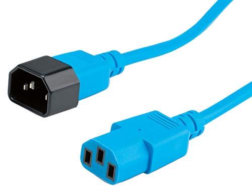 ROLINE Kabel mit Kaltegerätstecker | IEC320 C14 Stecker / C 13 Buchse | Blau 1,8 m