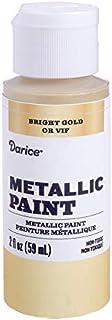 Darice Metallic Bright Gold, 2 Ounces Acrylic Paint,