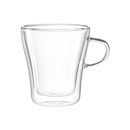 LEONARDO - Duo - doppelwandiges Glas - Henkelbecher, Becher, Tasse - 250 ml - Glas