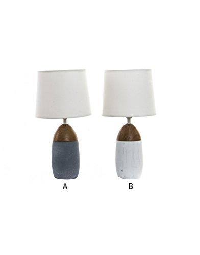 Huis en meer – tafellamp van kurk en keramiek. 2 modellen – A.