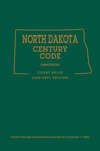 Compare Textbook Prices for North Dakota Century Code Annotated Court Rules 2020-2021 Edition  ISBN 9781522193548 by Publisher's Editorial Staff