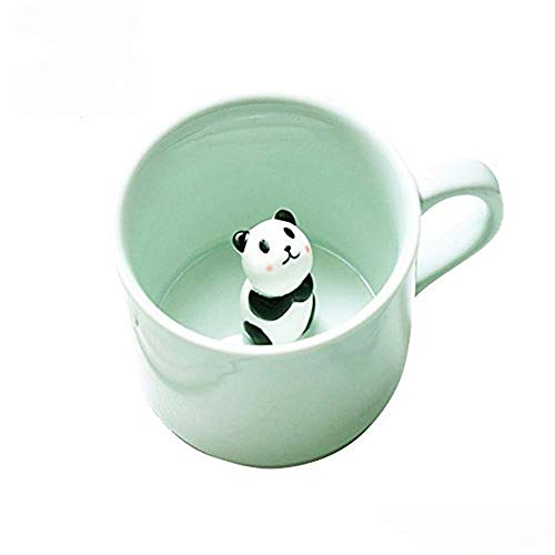 Coffee Milk Tea Ceramic Mugs - 3D Animal Morning Cup Best Gift for Morning Drink,and Weddings, Birthdays,Father's Day (Panda) Without Spoon and Plate
