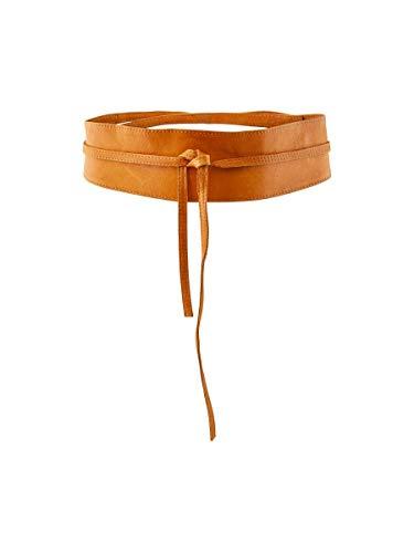 PIECES Damen Vibs Leather Tie Waist Belt Noos G rtel, Braun (Cognac Cognac), 80 EU