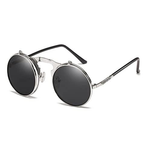 DovSnnx Unisex Polarizadas Gafas De Sol 100% Protección UV400 Sunglasses para Hombre Y Mujer Gafas De Aviador Gafas De Ciclismo Ultraligero Plata Concha Plata